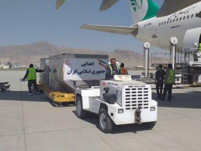 هواپیمای کمکهای اهدایی ایران در فرودگاه کابل بر زمین نشست